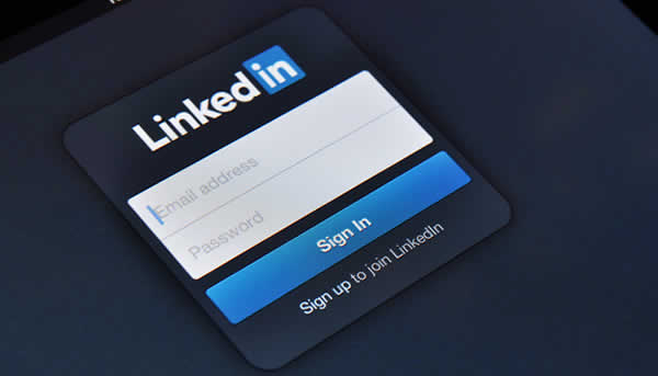 image of linkedin login page