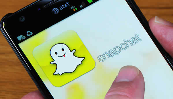 image of mobile phone with snapchat